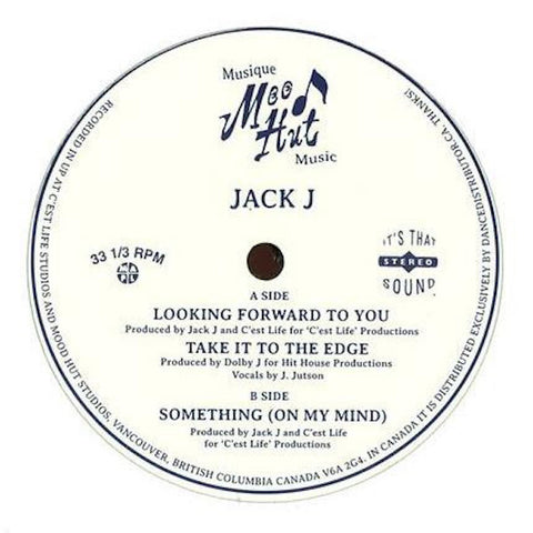 "Jack J - Looking Forward To You - 12"" - Mood Hut - MH007"