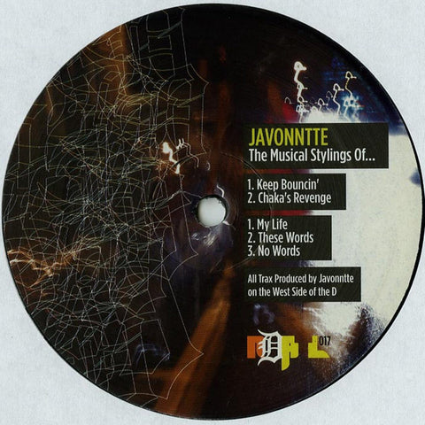 "Javonntte ‎- The Musical Stylings Of... - 12"" - NDATL Muzik - NDATL 017"