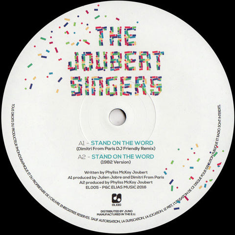 "The Joubert Singers - Stand On The Word - 12"" - Elias Productions - EL005"