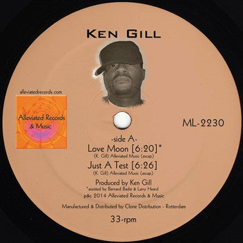 "Ken Gill - Love Moon - 12"" - Alleviated Records - ML-2230"