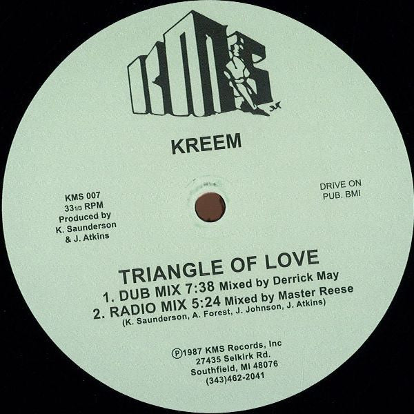 "Kreem - Triangle of Love - 12"" - KMS 007"