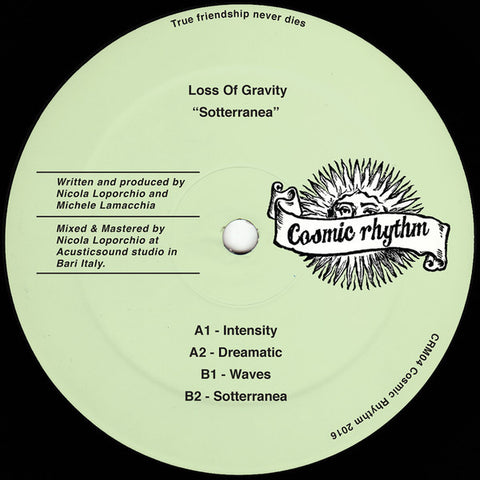 "Loss of Gravity - Sotterranea - 12"" - Cosmic Rhythm - CRM04"