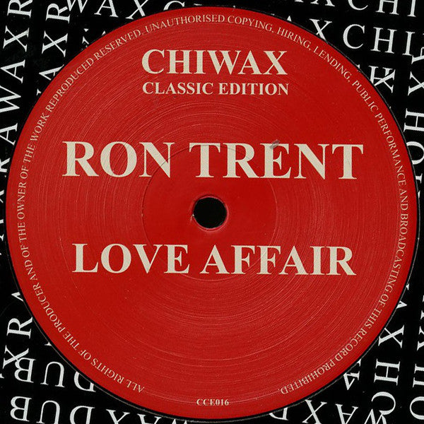 "Ron Trent - Love Affair - 12"" - Chiwax Classic Edition - CCE016"