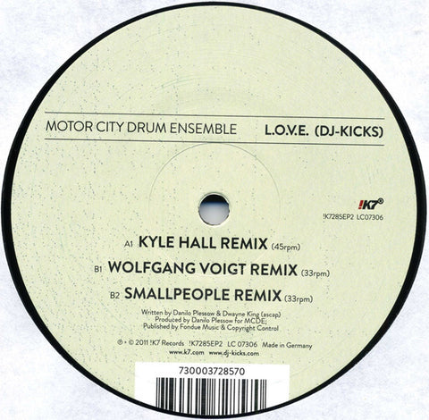 "Motor City Drum Ensemble - L.O.V.E. (Remixes) - 12"" - Studio !K7 - !K7285EP2"