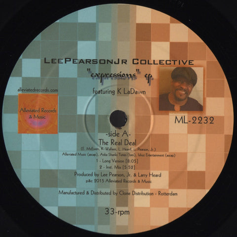 "Lee Pearson Jr Collective - Expressions EP - 12"" - Alleviated Records - ML2232"