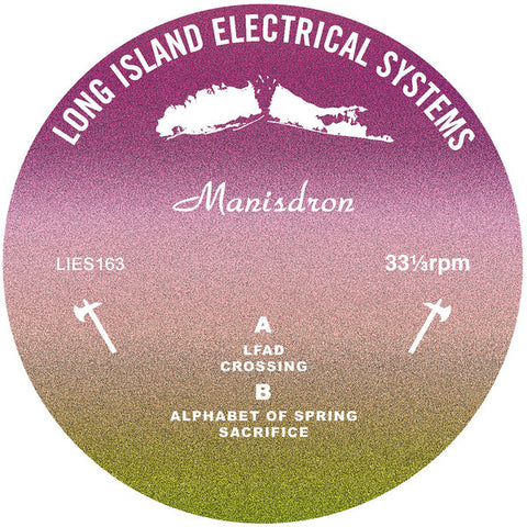 "Manisdron - EP - 12"" - L.I.E.S. Records ‎- LIES163"