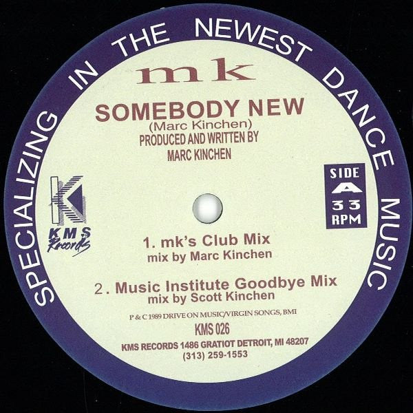 "MK - Somebody New - 12"" - KMS 026"