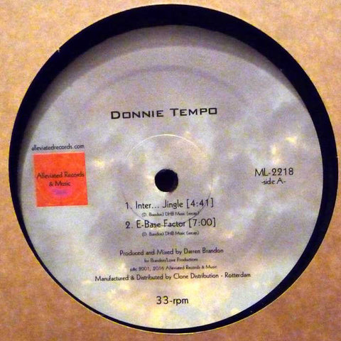 "Donnie Tempo - 12"" - Alleviated Records - ML-2218"