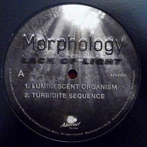 "Morphology - Lack of Light - 12"" - Abstract Forms - AFS20.03"