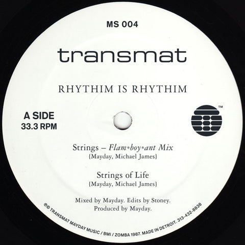 "Rhythim is Rhythim - Strings of Life - 12"" - Transmat - MS 004"