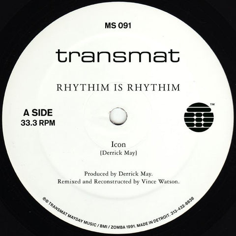 "Rhythim is Rhythim - Icon (Remixed & Reconstructed) - 12"" - Transmat - MS 091"