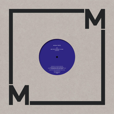 "Michal Turtle - Are You Psychic? - 12"" - Music From Memory - MFM008"