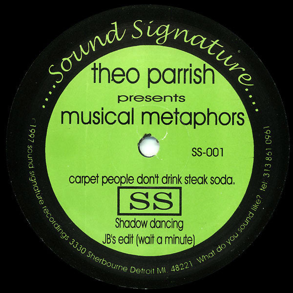 "Theo Parrish - Musical Metaphors - 12"" - Sound Signature - SS-001"