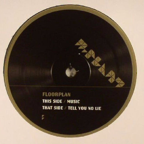 "Floorplan - Music / Tell You No Lie - 12"" - M-Plant - M.PM27"