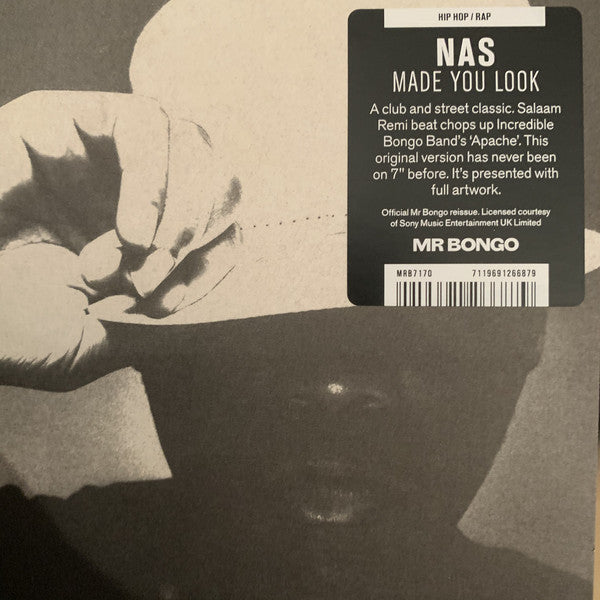 "Nas - Made You Look - 7"" - Columbia Records - MRB7170"