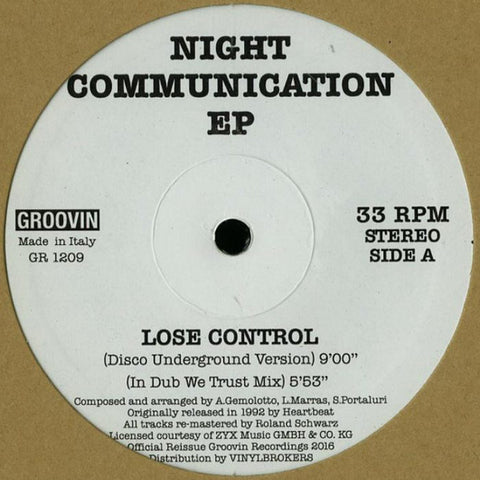 "Night Communication - 12"" - Groovin Recordings - GR 1209"