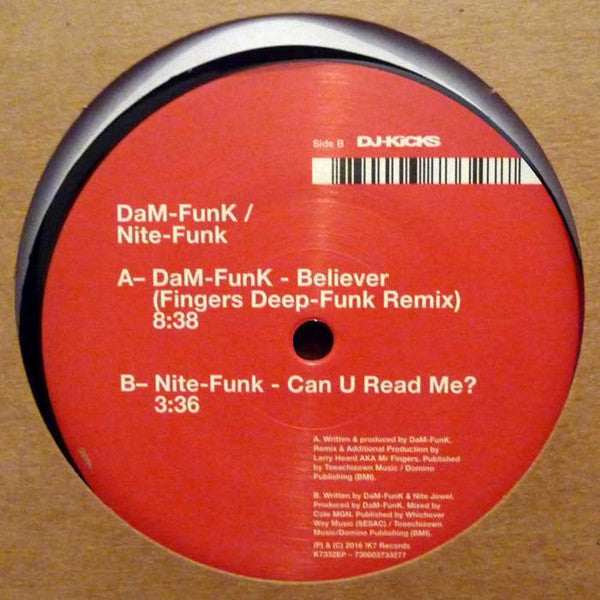 "DaM-Funk / Nite-Funk - Believer / Can U Read Me? - 12"" - !K7 Records - K7332EP"