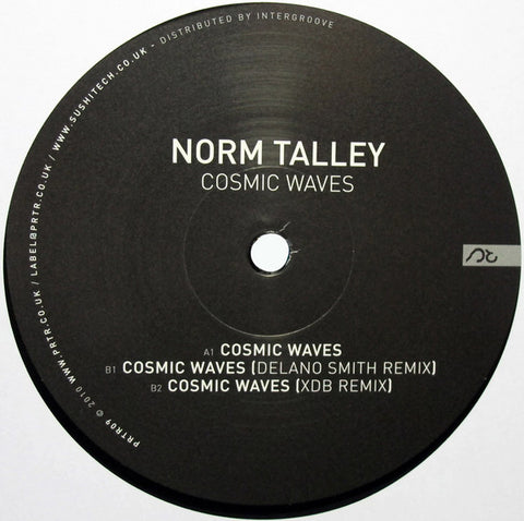 "Norm Talley - Cosmic Waves - 12"" - Pariter ‎- PRTR09"