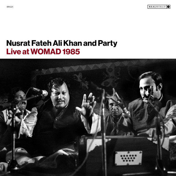 Nusrat Fateh Ali Khan & Party ‎- Live At Womad 1985 - LP - Real World Records ‎- LPRW225