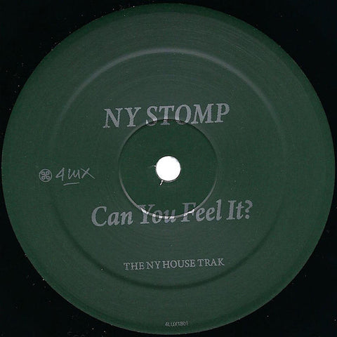 "NY Stomp - Can You Feel It? - 12"" - 4LUX1801"