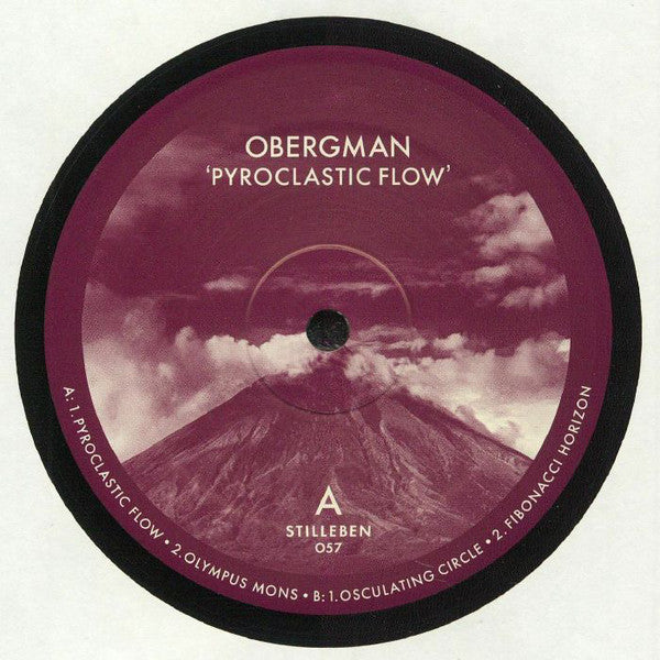 "Obergman - Pyroclastic Flow - 12"" - Stilleben Records ‎- Stilleben 057"