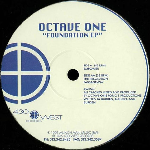 "Octave One - Foundation EP - 12"" - 430 West - 4W-240"