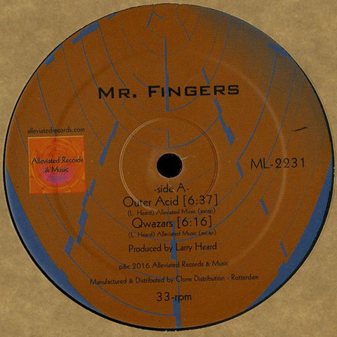 "Mr. Fingers - Outer Acid - 12"" - Alleviated Records - ML-2231"