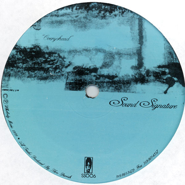 "Theo Parrish - Overyohead - 12"" - Sound Signature - SS006"