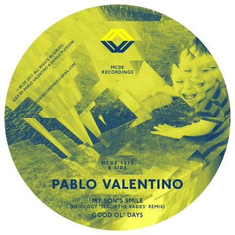 "Pablo Valentino - My Son's Smile EP - 12"" - MCDE 1215"