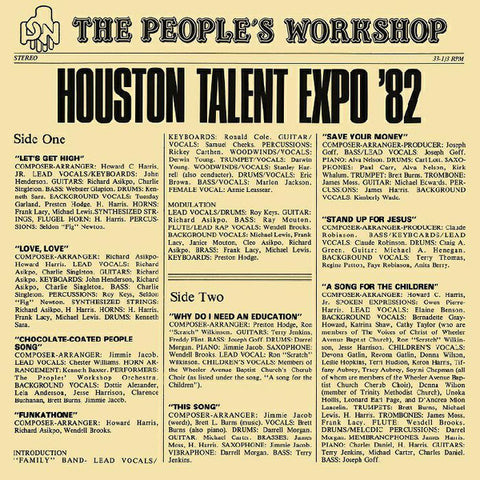 The People's Workshop - Houston Talent Expo - LP - BBE 347ALP