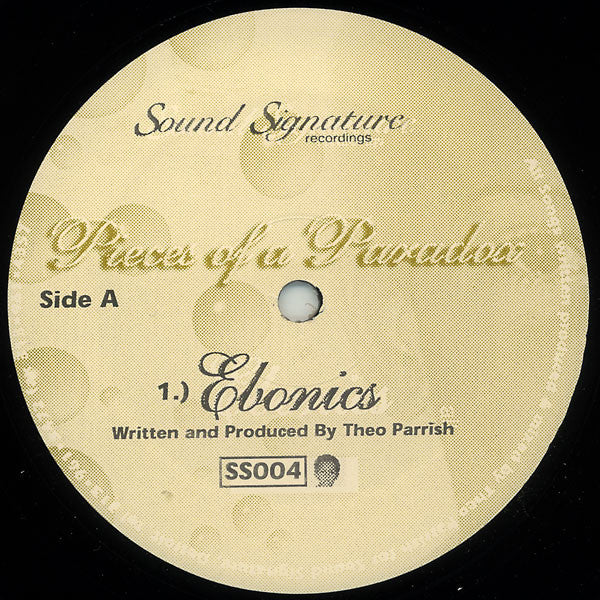 "Theo Parrish - Pieces of a Paradox - 12"" - Sound Signature - SS004"