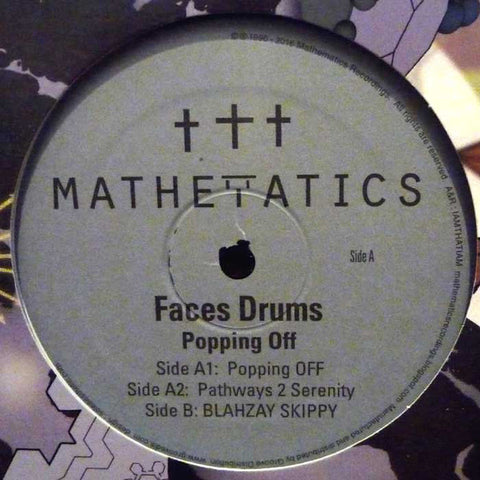 "Faces Drums - Popping Off - 12"" - Mathematics Recordings - MATH 089"