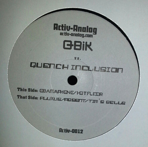 "Q-Bik vs. Quench Inclusion - 12"" - Activ-Analog - activ-0012"