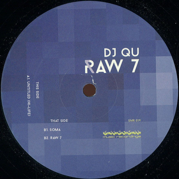 "DJ Qu - Raw 7 - 12"" - Strength Music Recordings - SMR014"