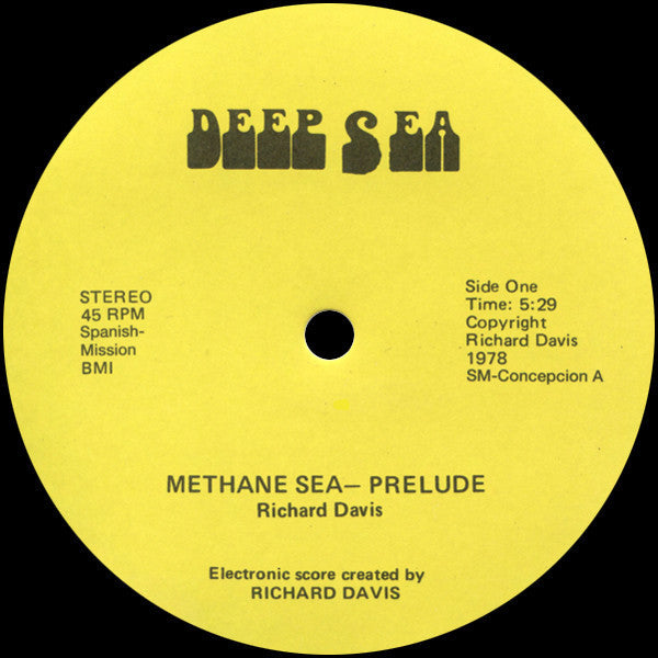 "Richard Davis - Methane Sea - 12"" - Spanish Mission - SM-CONCEPCION"