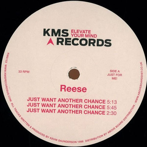 "Reese ‎- Just Want Another Chance - 12"" - KMS 153"