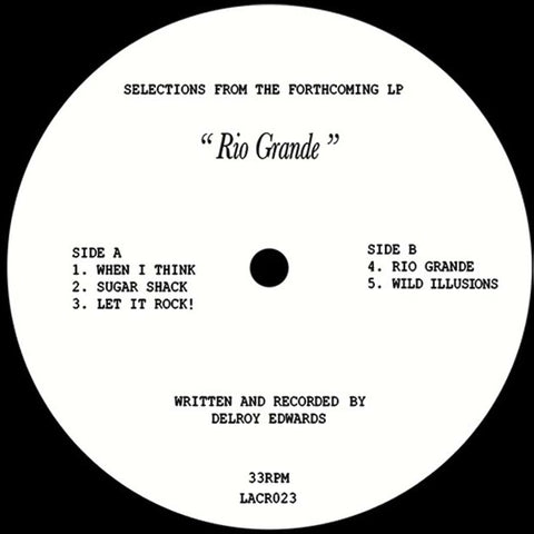 "Delroy Edwards - Rio Grande - 12"" - L.A. Club Resouce - LACR023"