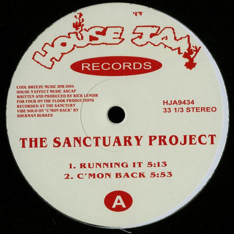 "The Sanctuary Project - ‎12"" - House Jam Records - HJA9434"
