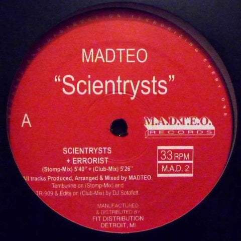 "Madteo - Scientrysts - 12"" - M.A.D.T.E.O. Records - M.A.D. 2"