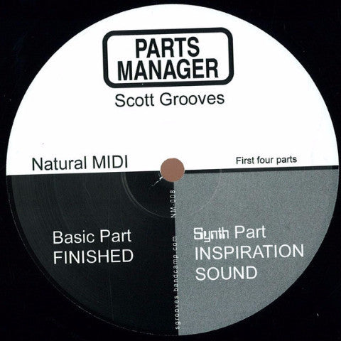 "Scott Grooves - Parts Manager (First Four Parts) - 12"" - Natural Midi - NM-008"