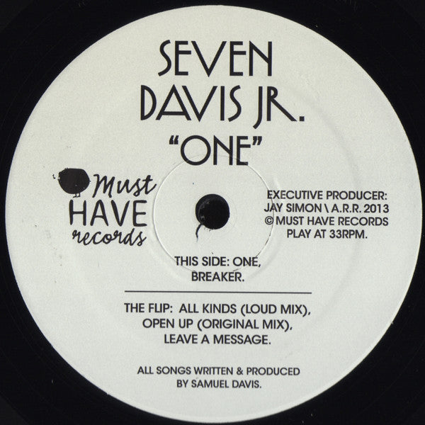 "Seven Davis Jr. - One - 12"" - Must Have - MHR-002"
