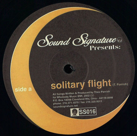 "Theo Parrish - Solitary Flight - 12"" - Sound Signature - SS016"
