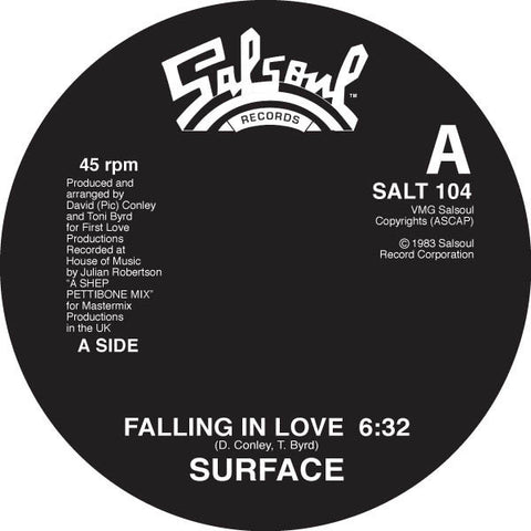 "Surface - Falling In Love - 12"" - Salsoul Records - SALT 104"