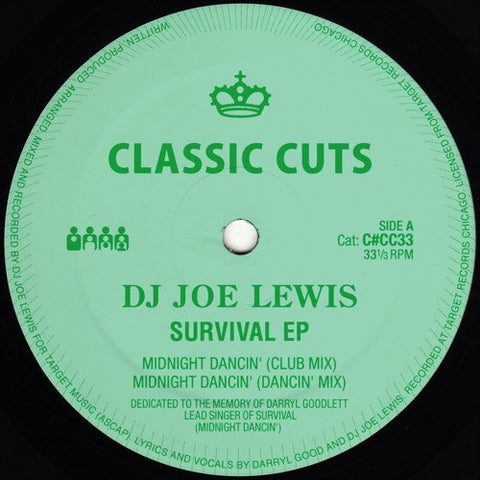 "DJ Joe Lewis - Survival EP - 12"" - Clone Classic Cuts - C#CC33"