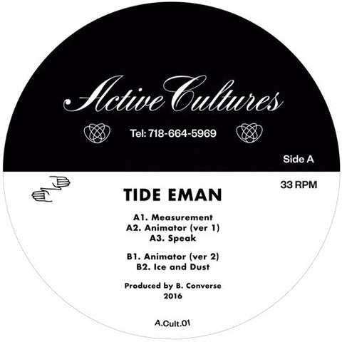 "Tide Eman - Animate Objects EP - 12"" - Active Cultures - A.Cult.01"