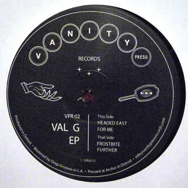 "Val G - Val G EP - 12"" - Vanity Press Records - VPR 02"