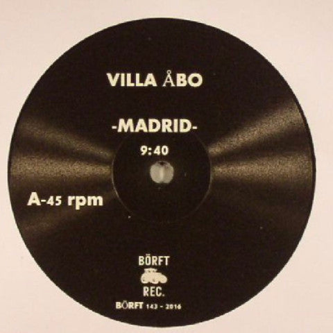 Villa Åbo - Madrid / Water Galaxy - Börft Records - BÖRFT 143