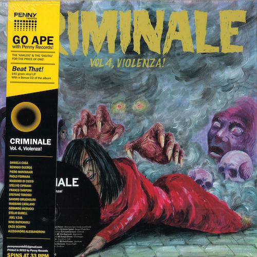 VA - Criminale - Vol. 4, Violenza! - LP + CD - Penny Records - PNY4511LPC
