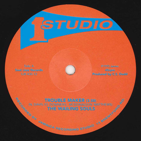 "Wailing Souls - Trouble Maker/Run My People - 12"" - Soul Jazz Records ‎- SJR 430-12"