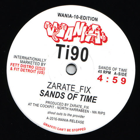 "Zarate_Fix / DJ Sotofett - Sands of Time / Coiled Acid Mix - 10"" - Wania - WANIA Ti90"